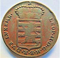 1790H LUXEMBOURG Leopold II,1 Sol grading VERY FINE. RARE