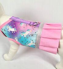 Unicorn Dog Harness Vest Dress With Ruffle Skirt