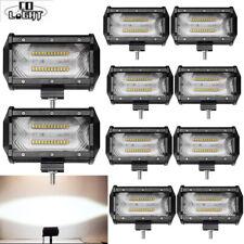 10x 5inch Led Work Light Bar SPOT Flood Cube Pods Offroad Lamp Fog SUV ATV PK 4