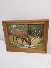 New ListingVintage Elk Paint By Number Painting, Rustic, Pacific Northwest Finding/Cool!