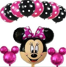 11 pcs Disney Minnie Mouse Birthday Foil Balloons Party Decorations Latex Set