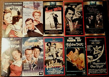 Lot of 10 Classic Film Vhs Tapes - It Happened One Night Pillow Talk +