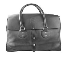 GHURKA AMAZING EXTRA LARGE BROOKFIELD BLACK LEATHER NEW $3250.00