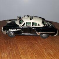 RARE VINTAGE 50s MODERN TOYS TIN LITHO FRICTION POLICE CAR JAPAN