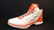 ADIDAS ADIZERO DERRICK ROSE MENS HIGH BASKETBALL SHOES Orange/White RARE SZ 17