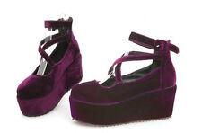 Womens Buckle Pumps Mary Jane Lolita Cross Strap High Heel Creeper Platform Shoe