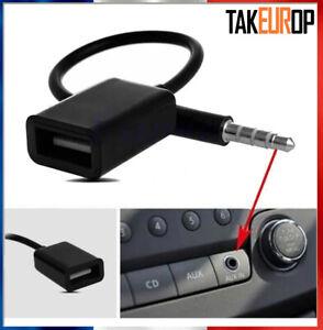 Câble Jack 3.5mm Stéréo Audio Prise Mâle Vers USB 2.0 Femelle Adaptateur - Tak