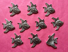 Tibetan Silver Angel Fish/Fish Charms - 10 per pack