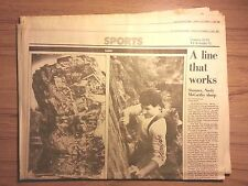 Boston Globe Sports Section October 17, 1986- Bruins, Rock Climbing, Sailing