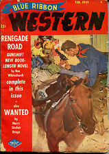 Blue Ribbon Western Pulp-February, 1949-Rex Whitechurch, Harry Sinclair Drago