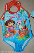 Toddler Girls Swim Suit DORA THE EXPLORER Monkey Boots 18 Mo BIG RAIN FOREST ADV