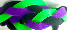 NEW! Neon Green Black Purple Grippy Band Headband Hair Sport Soccer Softball