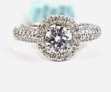 1.62Ct SI1 Natural Round Diamond Solitaire Engagement Ring 14k White Gold