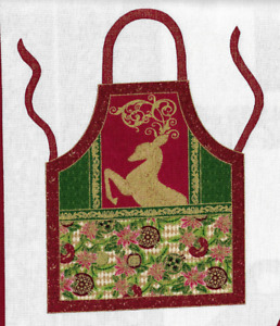 Cut and sew Christmas/Holiday Apron by Paintbrush Studios