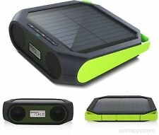 Portable Speakers Bluetooth Solar Smartphone Charger USB Travel Camping Music