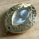 Vintage Endura Swiss Lady Gold Tone Hand-Wind Necklace Pendant Watch Hours
