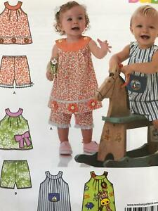 New Look Sewing Pattern 6198 Baby Infant Top Pants Overall Size NB-L Uncut