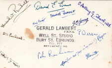 BURY ST EDMUNDS( Suffolk) : Hockey Team plain back RP-signed on the back-LAMBERT