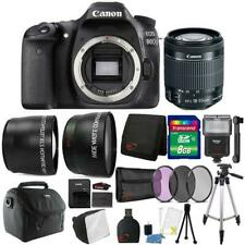 Canon EOS 80D 24.2MP Digital SLR Camera with 18-55mm Lens and Accessory Bundle