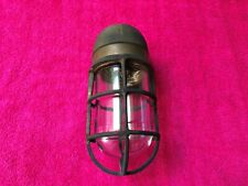 Brass R&S Co. Russel & Stoll explosion proof antique nautical wall light New
