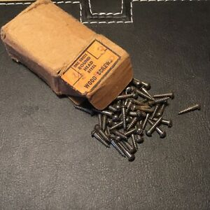"VINTAGE #3 X 1/2"""" ROUNDHEAD  Slotted WOOD SCREWS-144 PER BOX"