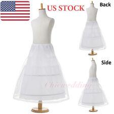 Flower Girls' Bridal Petticoat Kid's Children Crinoline Underskirt Slips 2 Hoop