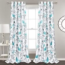 Flower Window Curtain Teal Window Curtains Drapes Room Living Room 50% Blackout
