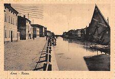 2468) LOREO (ROVIGO) RIVIERA, BARCA E PASSANTI. VIAGGIATA NEL 1954.