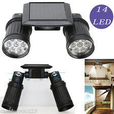 Dual Head LED Solar PIR Activated Adjustable Security Light Floodlight Spotlight