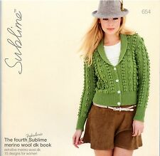 The fourth Fabulous Sublime merino wool dk book #654 -15 Knitting Patterns Women