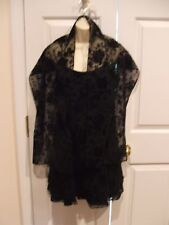 New frederick's of hollywood black cutvelvet cocktail party holiday dress jr 7/8