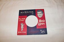 Mario Lanza 45  Half  Record Sleeve ONLY-THE GREAT CARUSO