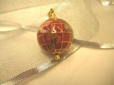 14KT Globe Pendant w/Gemstone Inserts