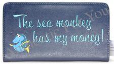 Disney Parks FINDING DORY Nemo Sea Monkey Has My Money Blue Bi-Fold Snap Wallet