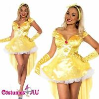 Ladies Princess Belle Beauty And The Beast Costume Halloween Party Fancy Dress