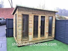 8x8 Pent Summer house Shed Garden Office 16mm T&G Tanalised