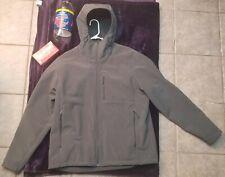 Men's XL North Face Apex Bionic 2 HOODED Softshell Jacket - Asphalt Gray