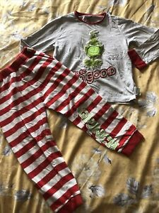 Boys Grinch Pyjamas Age 4-5 Years