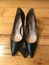 New  ZARA Black  Kitty Pumps Heels  Size 8.5  39 Shoes