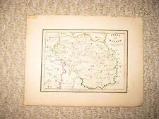 ANTIQUE 1836 TRIBE OF REUBEN ISRAEL HANDCOLORED MAP JEWISH JUDAISM TORAH FINE NR