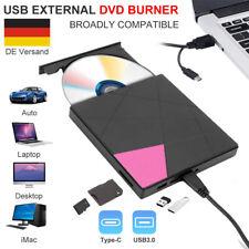 USB 3.0 Externes Brenner DVD CD Laufwerk Slim RW Typ-C Brenner mit SD Karte DE
