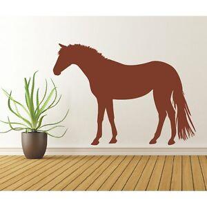 Wandtattoo Pferd  reiten Pferde Pony Reiter Wandsticker Wandaufkleber Sticker 1