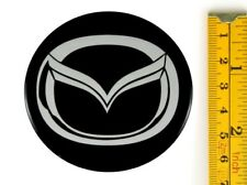 "MAZDA *4 x NEW* Emblems 65mm (2 7/16"") WHEEL CENTER CAP STICKERS 3D DECALS"