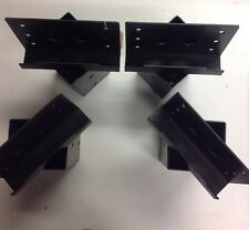 Steel 4x4 Straight Elevator Brackets Corner Post. Building Brackets.  L Style C