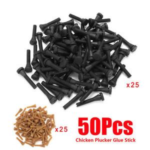 50PCS Chicken Plucker Picker Poultry Fingers Duck Goose Hen Heavy Duty Plucking