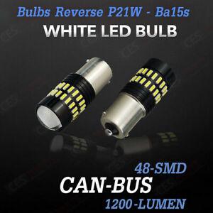 2x P21W REVERSE LIGHT LED CREE WHITE XENON BA15S FOR SKODA OCTAVIA IZ3 IZ5 04-13