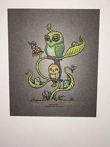 Marq Spusta Seven Birds Full Size! 2014 Poster Print S/N Silkscreen Lmtd Edtn