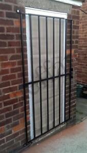 --Large slim steel security door gate / grille for home, office, garage alley--