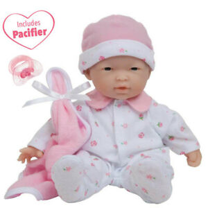 JC TOYS 13109 11IN SOFT BABY DOLL PINK ASIAN