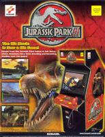 Konami Jurassic Park 3 Arcade FLYER Original 2001 Video Game Art Print Dinosaurs